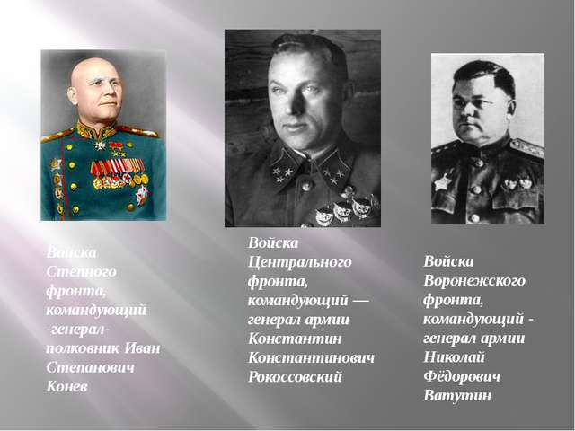 Войска Центрального фронта, командующий— генерал армии Константин Константин...