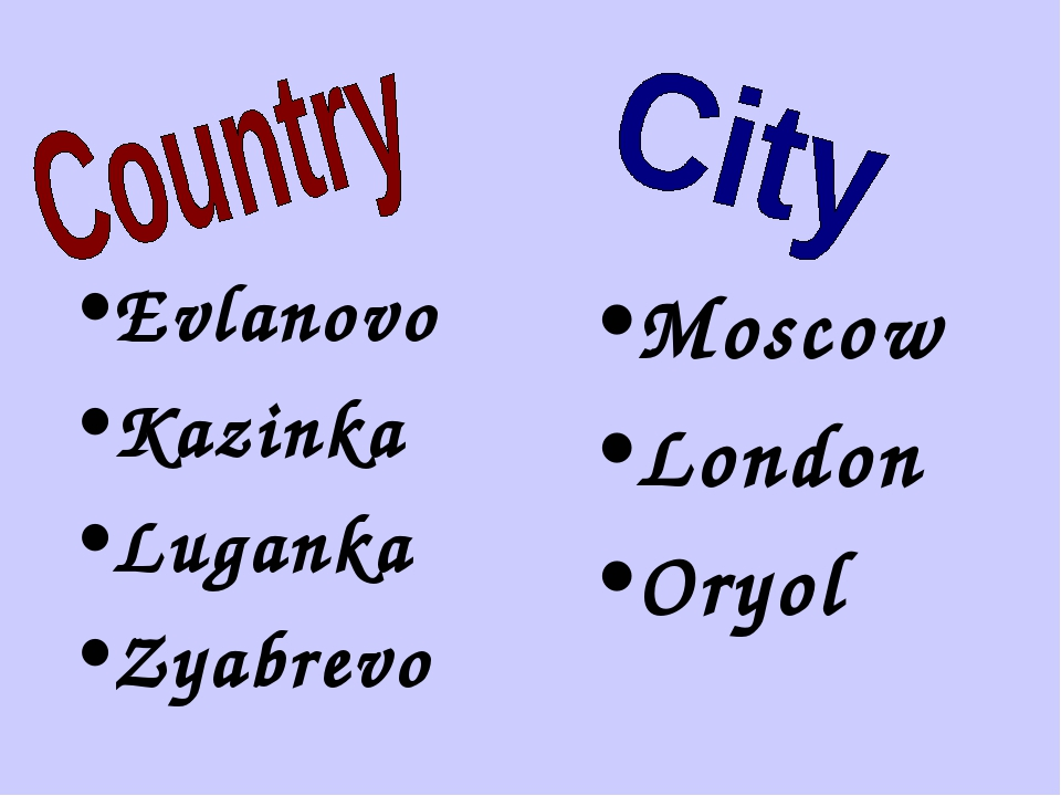 Evlanovo Kazinka Luganka Zyabrevo Moscow London Oryol