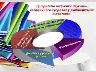 Пріоритетні напрямки науково-методичного супроводу допрофільної підготовки Д