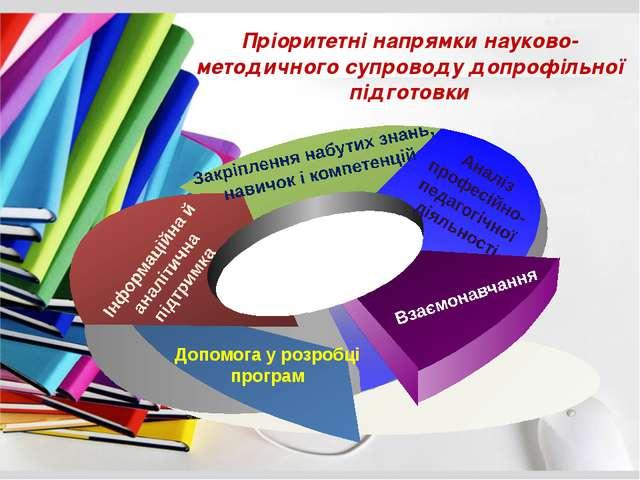 Пріоритетні напрямки науково-методичного супроводу допрофільної підготовки Д...