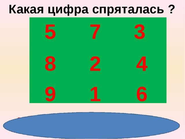 5 7 3 8 2 4 9 1 6 5 1 2 4 6 3 9 7 8 Какая цифра спряталась ?
