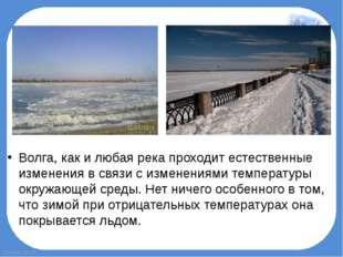 Волга, как и любая река проходит естественные изменения в связи с изменениями