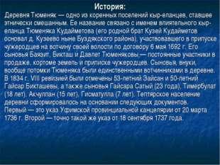 История: Деревня Тюменяк— одно из коренных поселений кыр-еланцев, ставшее эт