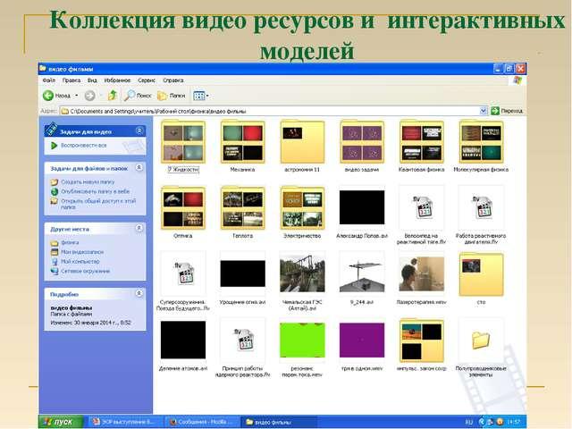 Коллекция видео ресурсов и интерактивных моделей