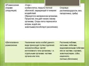 3)Размножениеспорами (споруляция) Спора– особая клетка, покрыта плотной оболо