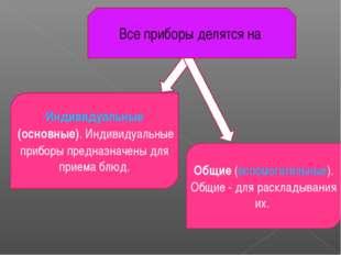 Индивидуальные (основные). Индивидуальные приборы предназначены для приема бл