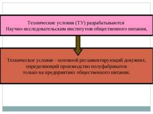 Техническое условие - основной регламентирующий документ, определяющий произв