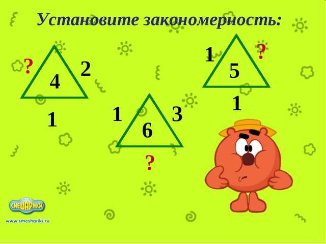 Установите закономерность: ? ? 1 2 3 6 ? 1 5 4 1 1