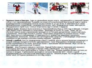 Лыжные гонки и биатлон. Один из древнейших видов спорта, зародившийся в север
