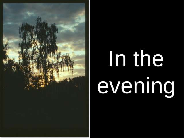In the evening