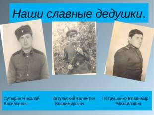 Наши славные дедушки. Сутырин Николай Катульский Валентин Петрушенко Владимир