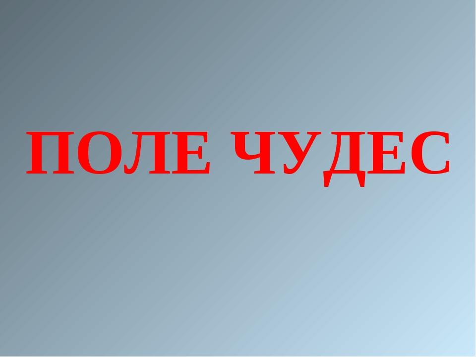ПОЛЕ ЧУДЕС