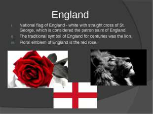 England National flag of England - white with straight cross of St. George, w