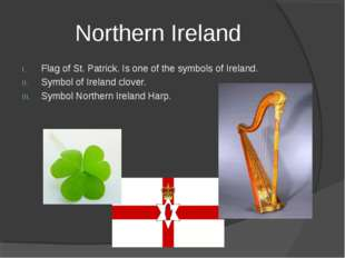Northern Ireland Flag of St. Patrick. Is one of the symbols of Ireland. Symbo