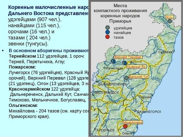 Коренные малочисленные народы Приморского края российского Дальнего Востока п...