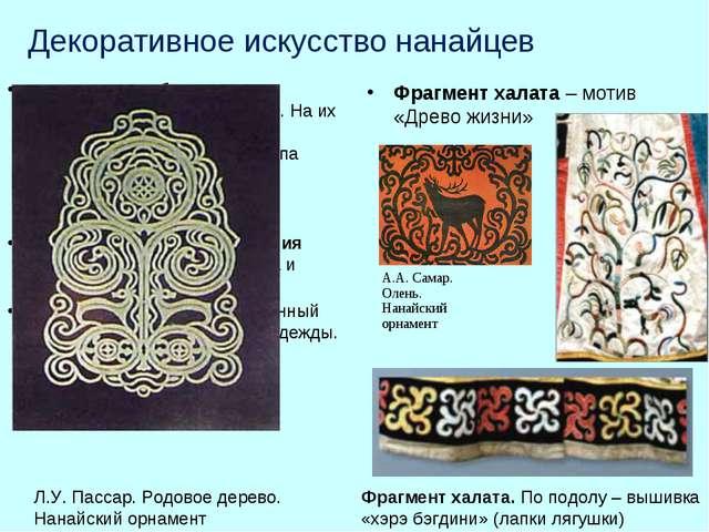 Декоративное искусство нанайцев отличается особенным пристрастием к яркой оде...