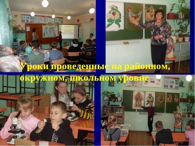 Уроки проведенные на районном, окружном, школьном уровне