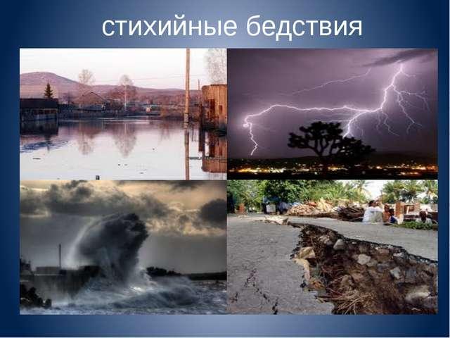 Чрезвычайные ситуации природного характера Геологические (землетрясения, изве...