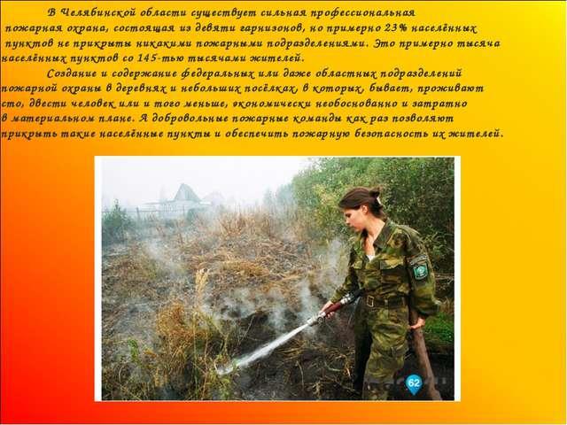 В Челябинской области существует сильная профессиональная пожарная охрана, с...