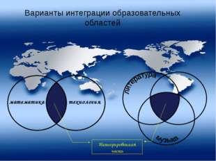 Варианты интеграции образовательных областей технология математика Интегриров