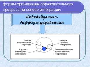 формы организации образовательного процесса на основе интеграции: Индивидуаль