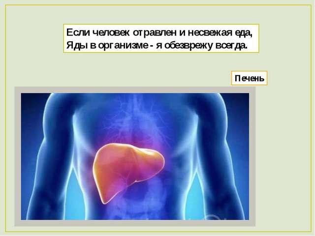 Если человек отравлен и несвежая еда, Яды в организме - я обезврежу всегда. П...
