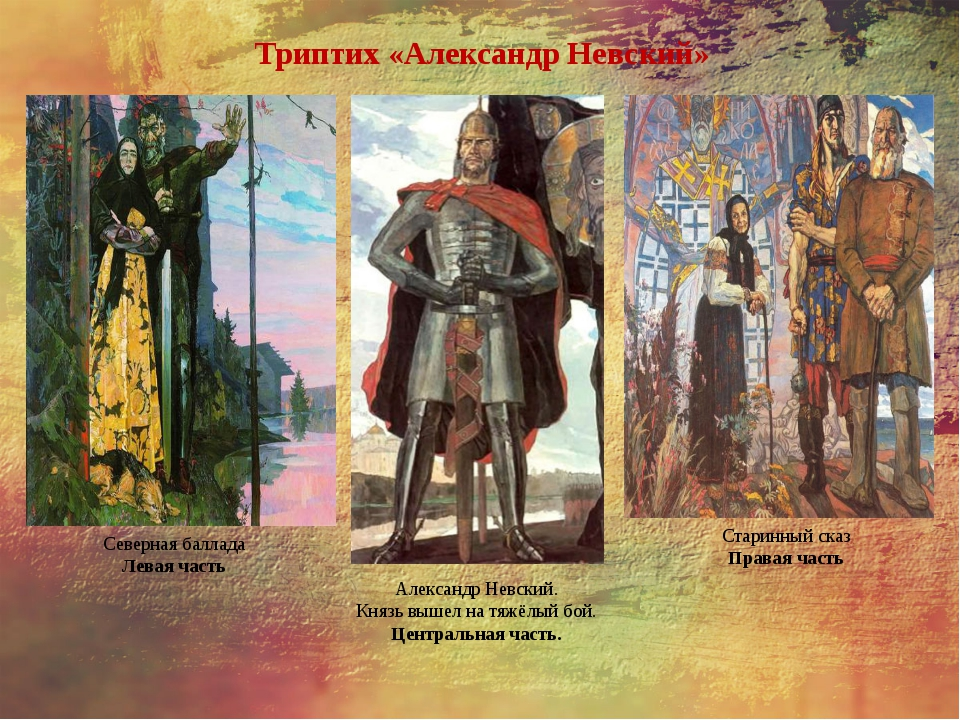 Триптих «Александр Невский» Александр Невский. Князь вышел на тяжёлый бой. Це...