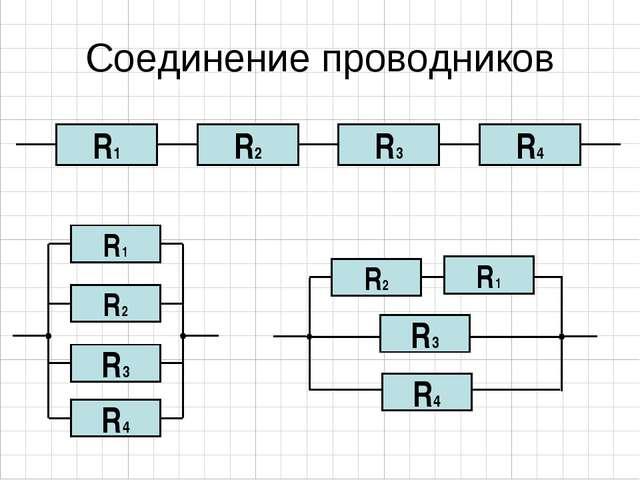 Соединение проводников R2 R1 R3 R4