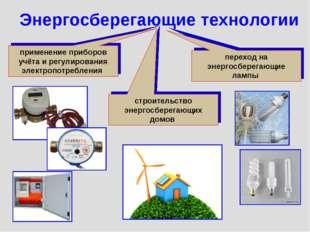 Энергосберегающие технологии применение приборов учёта и регулирования электр