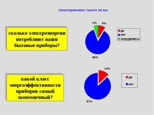 Анкетирование: знаете ли вы сколько электроэнергии потребляют ваши бытовые пр