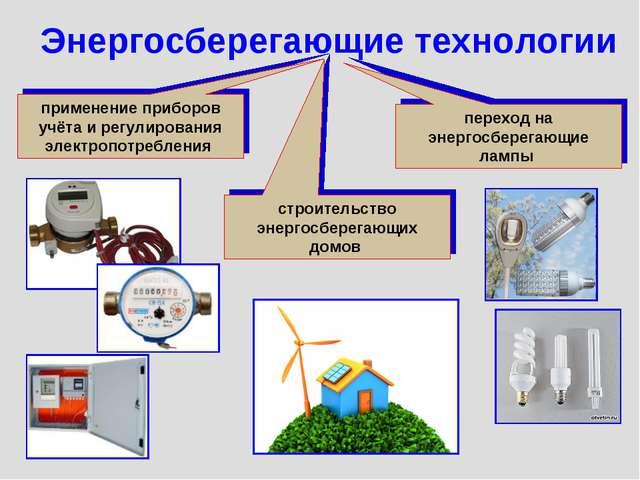 Энергосберегающие технологии применение приборов учёта и регулирования электр...