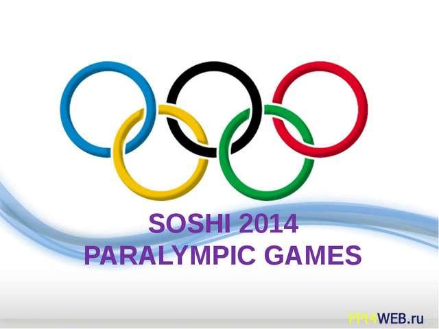 SOSHI 2014 PARALYMPIC GAMES