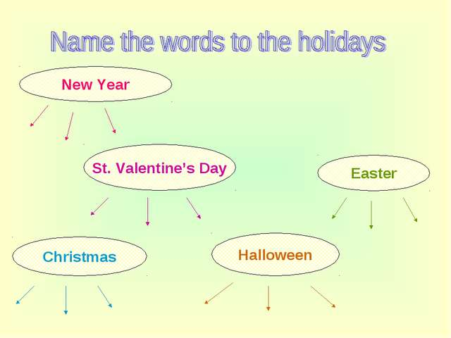 New Year Christmas Easter St. Valentine's Day Halloween