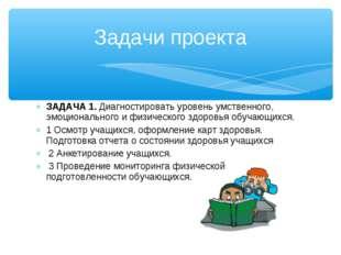 ЗАДАЧА 1. Диагностировать уровень умственного, эмоционального и физического з