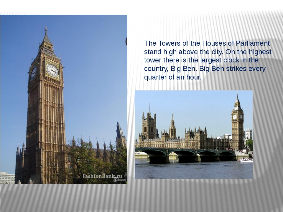 The Towers of the Houses of Parliament stand high above the city. On the high...