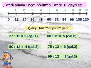 * 0 12 24 1 2 3 4 5 6 7 8 9 10 36 48 60 72 84 96 108 120 37 : 12 = 36 3 (qal.