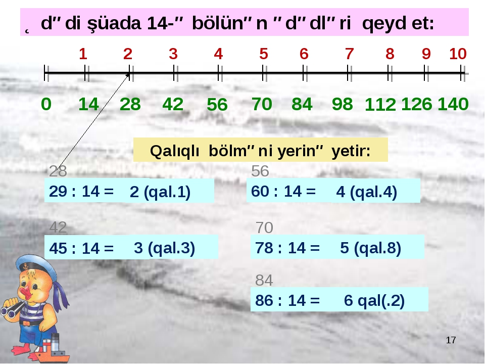 * 0 14 28 1 2 3 4 5 6 7 8 9 10 42 56 70 84 98 112 126 140 29 : 14 = 28 2 (qal...