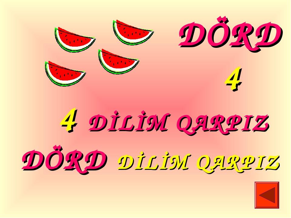 4 DİLİM QARPIZ DÖRD DİLİM QARPIZ DÖRD 4