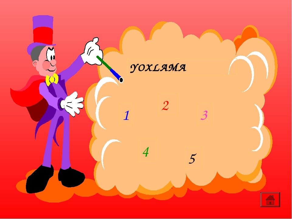 YOXLAMA 1 2 3 4 5