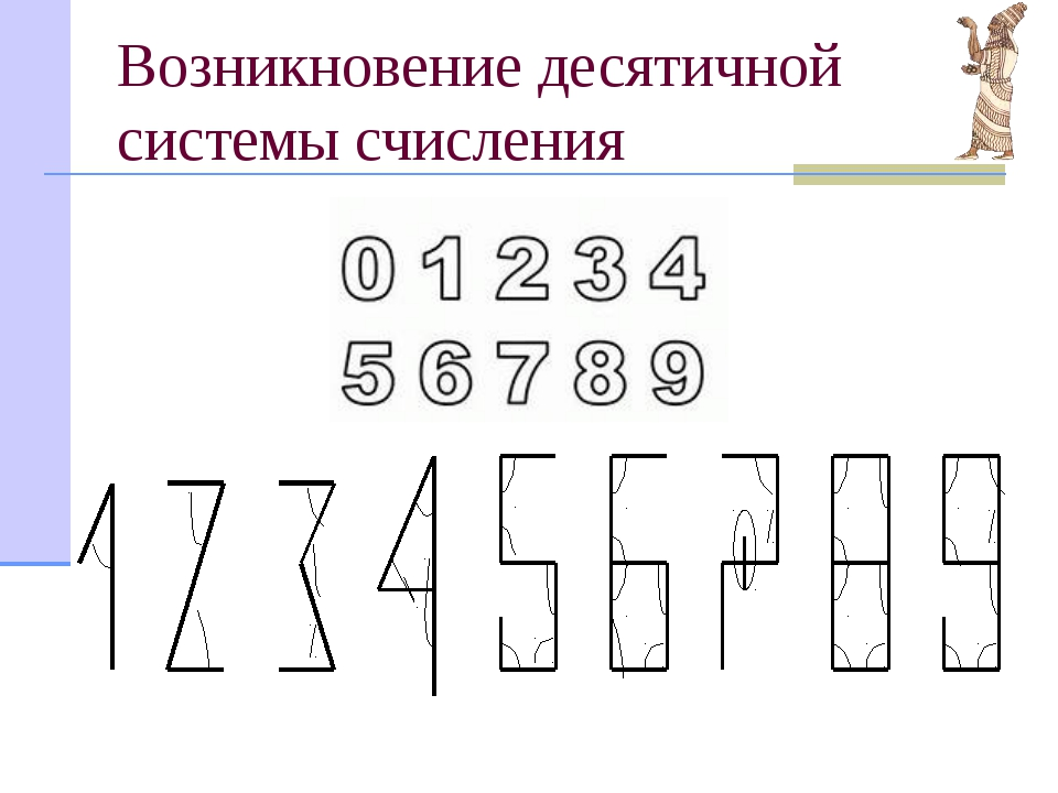 Возникновение десятичной системы счисления Начало десятичной системе счислени...