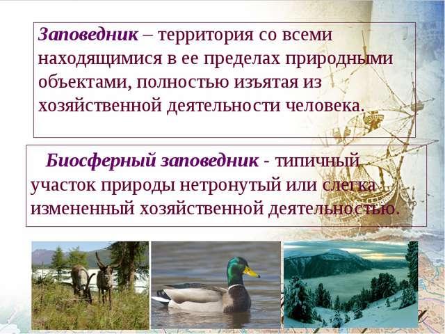 Заповедник – территория со всеми находящимися в ее пределах природными объект...