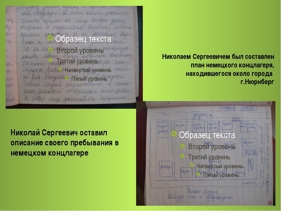 Николай Сергеевич оставил описание своего пребывания в немецком концлагере Ни...