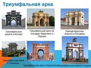 Триумфальная арка Триумфальные ворота в Москве Триумфальная арка на площади К