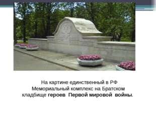 На картине единственный в РФ Мемориальный комплекс на Братском кладбищегеро
