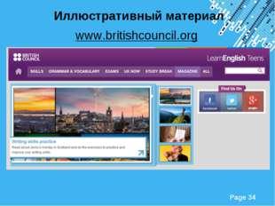 Иллюстративный материал www.britishcouncil.org Powerpoint Templates Page *