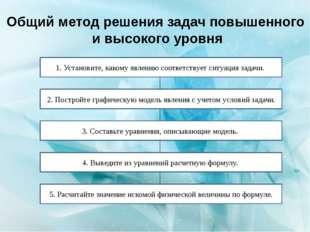 Общий метод решения задач повышенного и высокого уровня 1. Установите, каком
