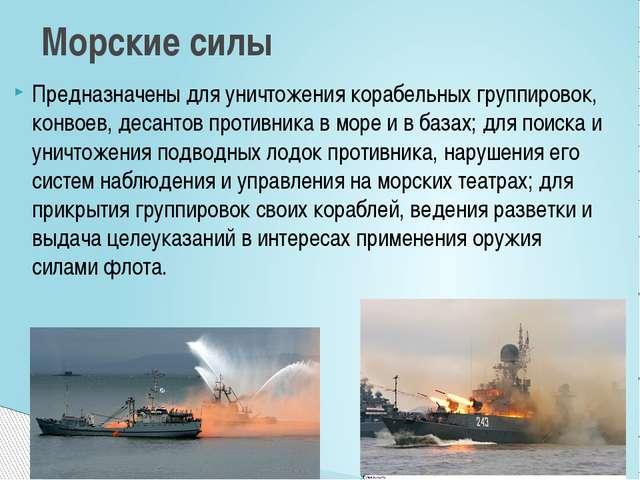 Предназначены для уничтожения корабельных группировок, конвоев, десантов прот...