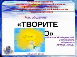 Автономное учреждение начального профессионального образования «Профессионал