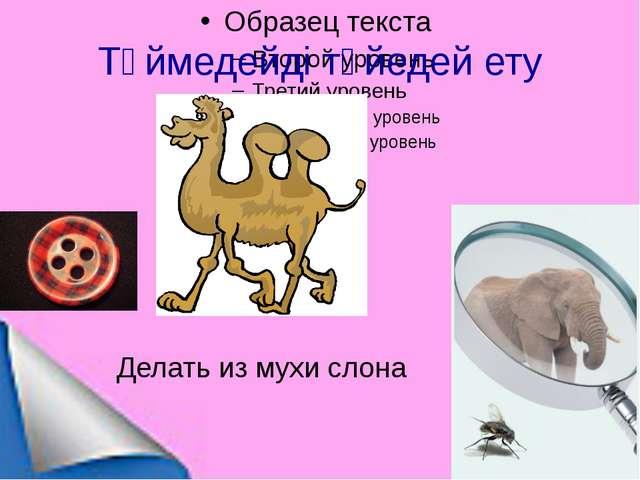 Түймедейді түйедей ету Делать из мухи слона