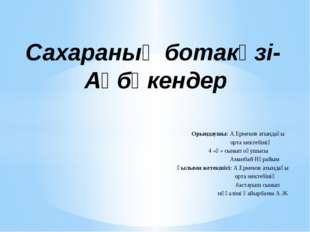 Орындаушы: А.Ермеков атындағы орта мектебінің 4 «ә» сынып оқушысы Аманбай Нұ
